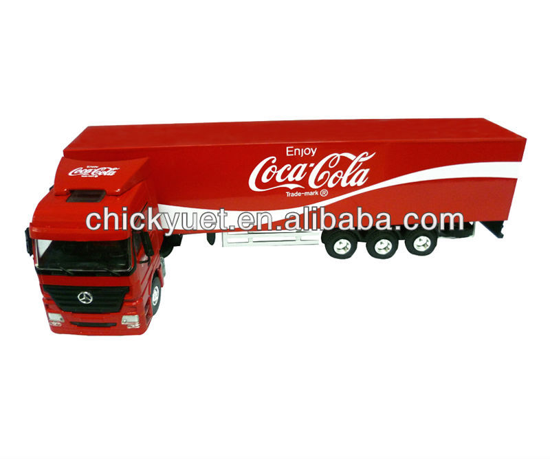 1-50 zinc alloy metal cola red model truck