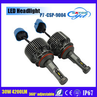 New led headlight 9004 9007 hot sale 12v 24v 30w 4200lm H1 H3 H4 H6 H7 H8 H9 H10