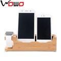 2016 hot selling for iPhone mobile stand charging stand, for apple watch stand wood, 4 in 1 stand holder for iPhone 6