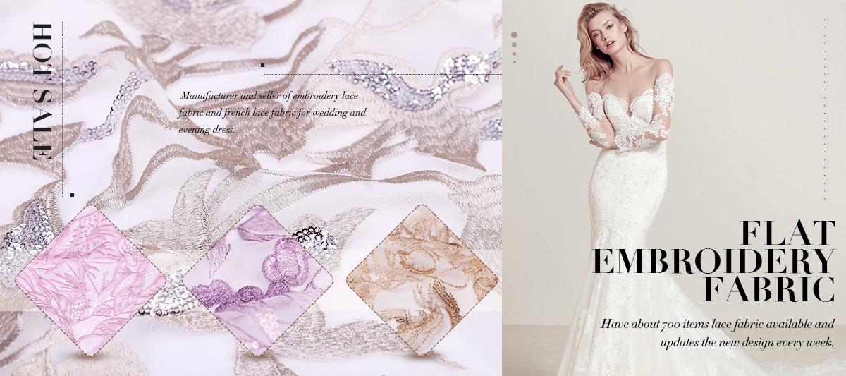 Guangzhou Yanzi Textile Co., Ltd. - France lace, Embroidery fabric