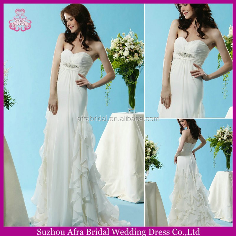 SD1650 sweetheart beach wedding dress chiffon designer pregnant women wedding dress