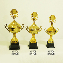Most popular excellent quality cheap golden large metal trophy cup