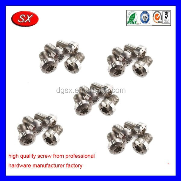 customized Grip Torx Screws Decorative 6-Holes,Precision small hex head Stainless steel screws