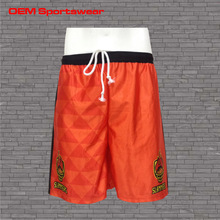 Pro club customized wholesale mens basketball shorts orange