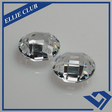Synthetic Wholesale Round Faceted Cut Double Checkerboard Cubic Zirconia Gemstone