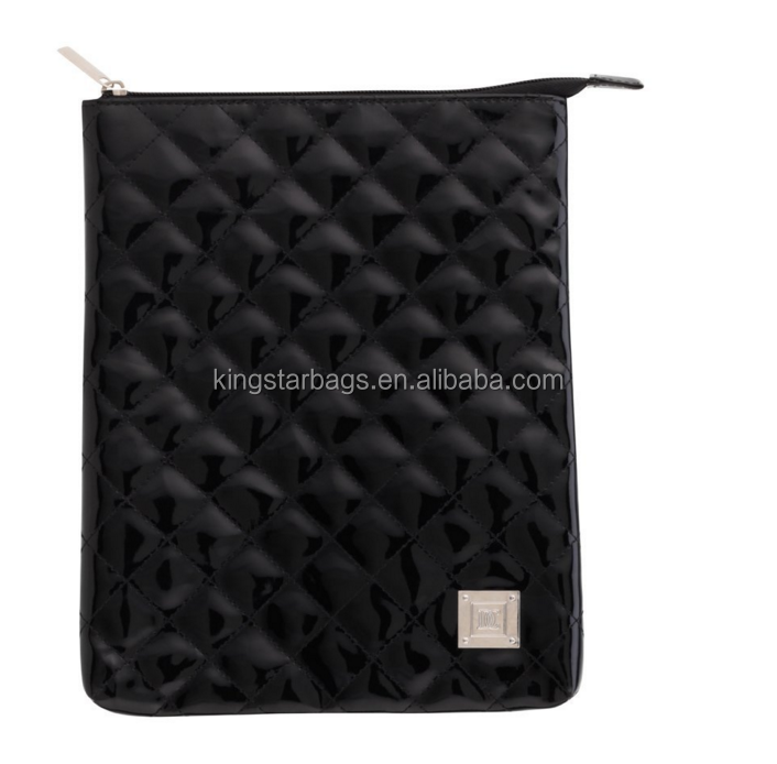 Classic Black Quilted Rubber PU Tablet Case Bag