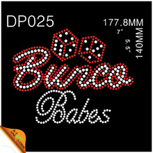 Wholesale Bunco Babes Hotfix Rhinestone Motif