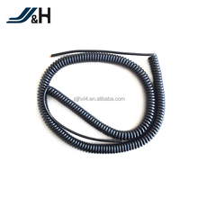 Black PU Jacket rj45 spiral cable