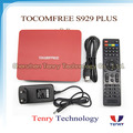 Digital satellite internet receiver twin tuner hd iks and sks tocomfree s929 plus
