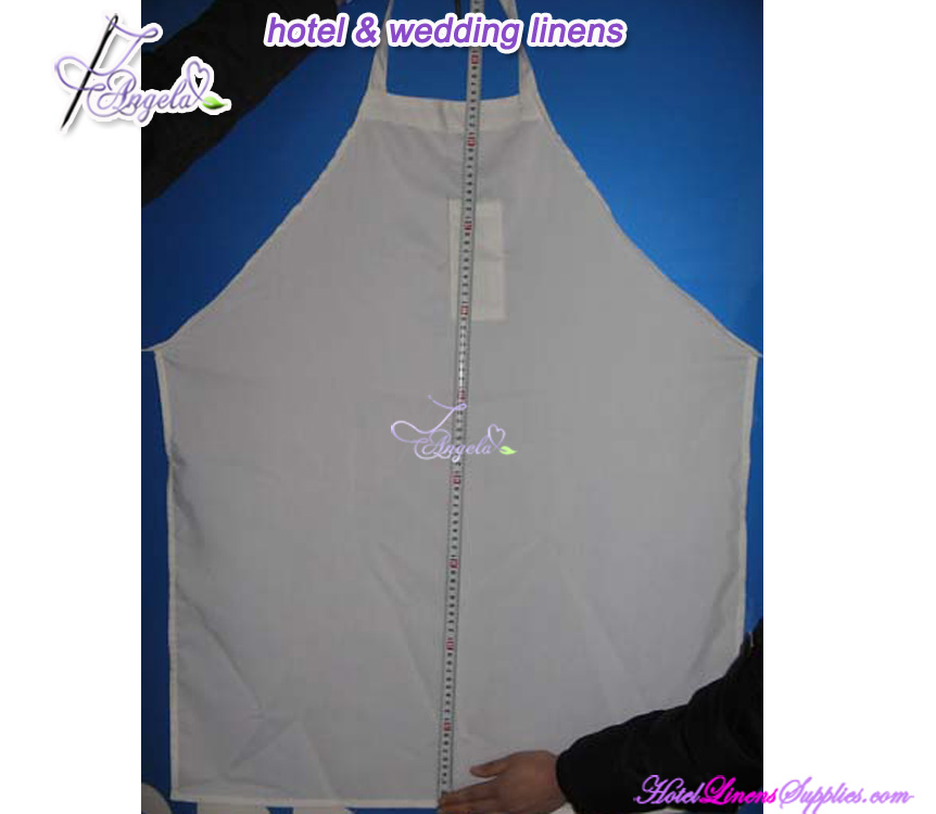 white cotton adult bib aprons for restaurants, hotels