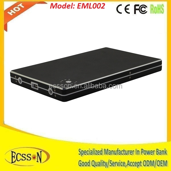 20000mah universal external battery pack for laptop, external battery backup