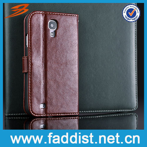 Flip Leather Phone Case for Galaxy s4 i9500 Credit Card Cover