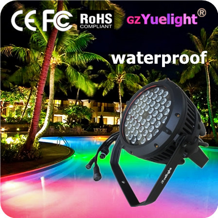 Yuelight Mass production 54PCS 3w rgbw waterproof led par light with CE ROHS