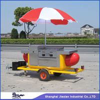 2015 Shanghai Jiexianl JX-HS230 mobile electric outside trailer/food trolley cart/food tricycle churroscoffeeconcession trailer