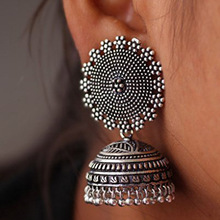 Oxidized Silver Plated Jhumki Jhumkas Earrings Long Style