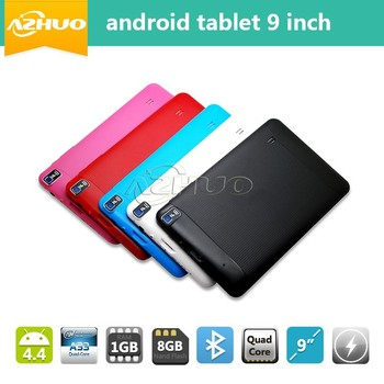 bulk wholesale quad core 9 inch 512M 8G android tablet 9 inch