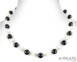 Pearl and Shine of Black Diamond Necklace Calgary