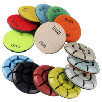 floor polishing pads 100 mm diamond floor pads multipurpose 30-3000 grit