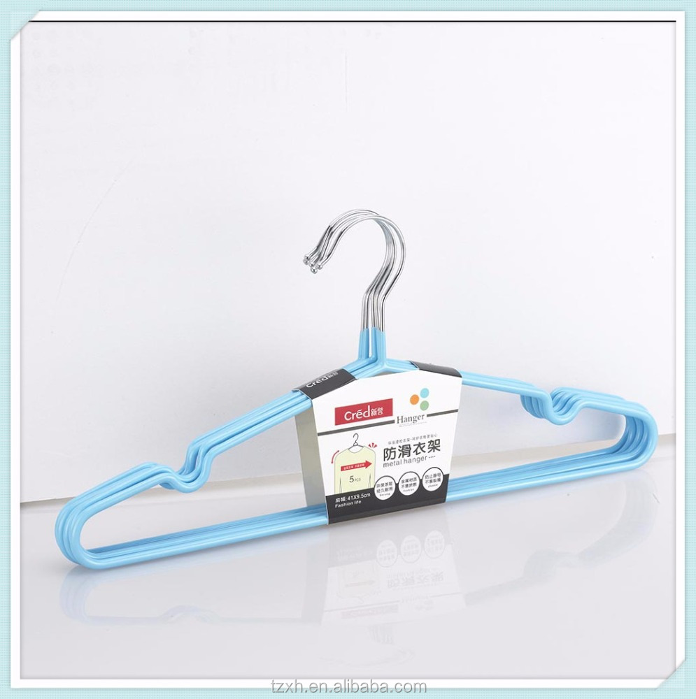 cheap colorful plastic coated metal clothes hanger