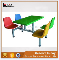 Fiber Glass Refectory Desk and Chair Banquet Table and Chair of 4 Seater Dining desk and chair