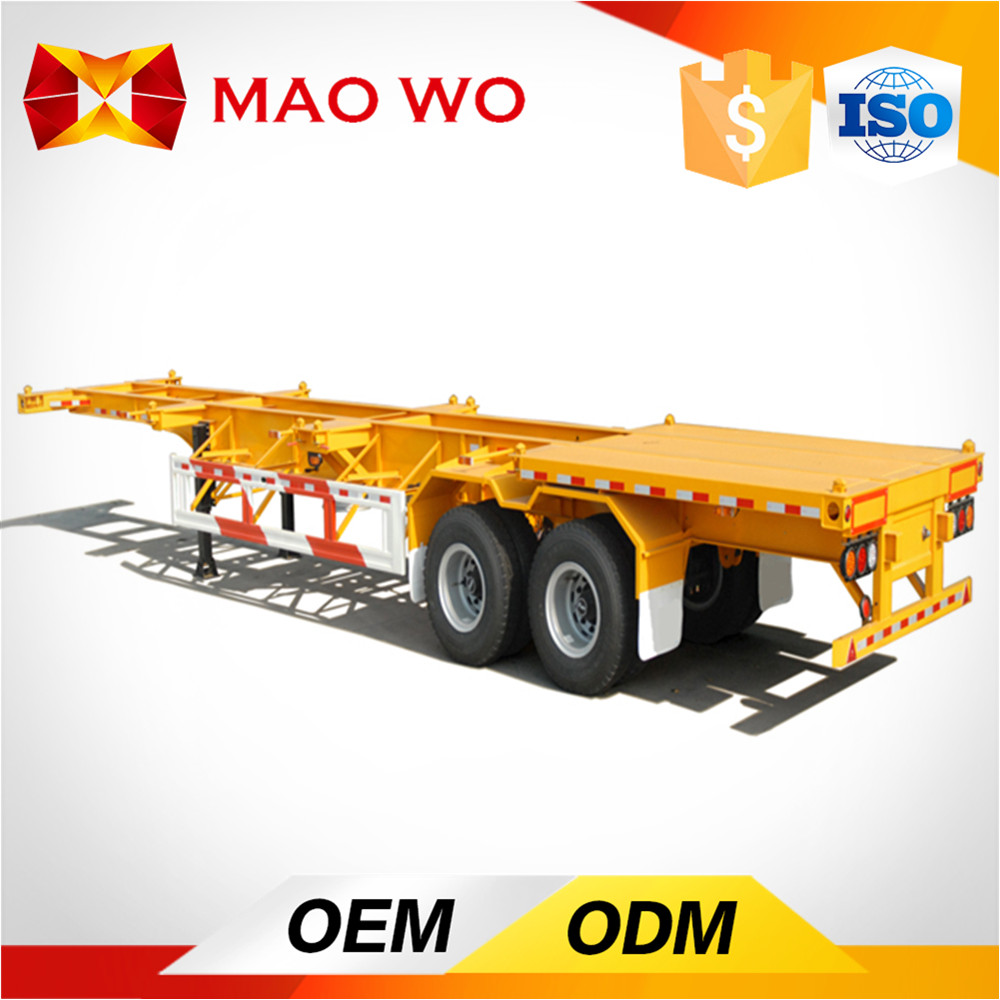3 axle 20-48ft Skeleton Container Transport Chasis and Semi Trailer Trucks For Sale