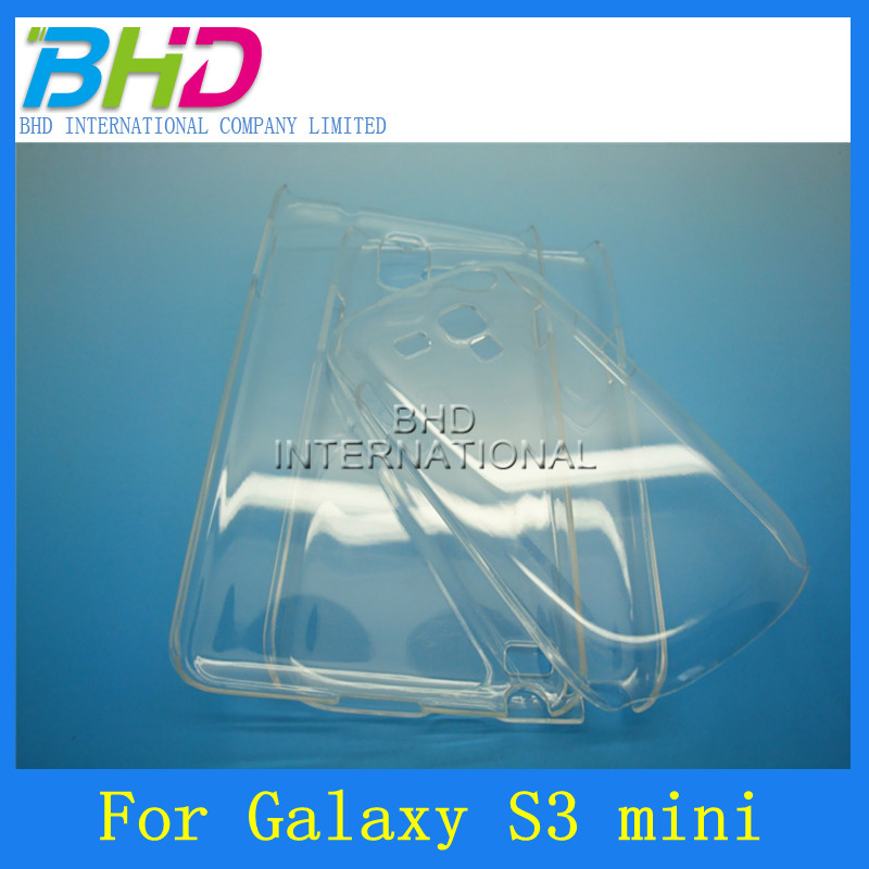 Slim Plastic Crystal Clear Hard Case Back Cover for S3 Mini i8190
