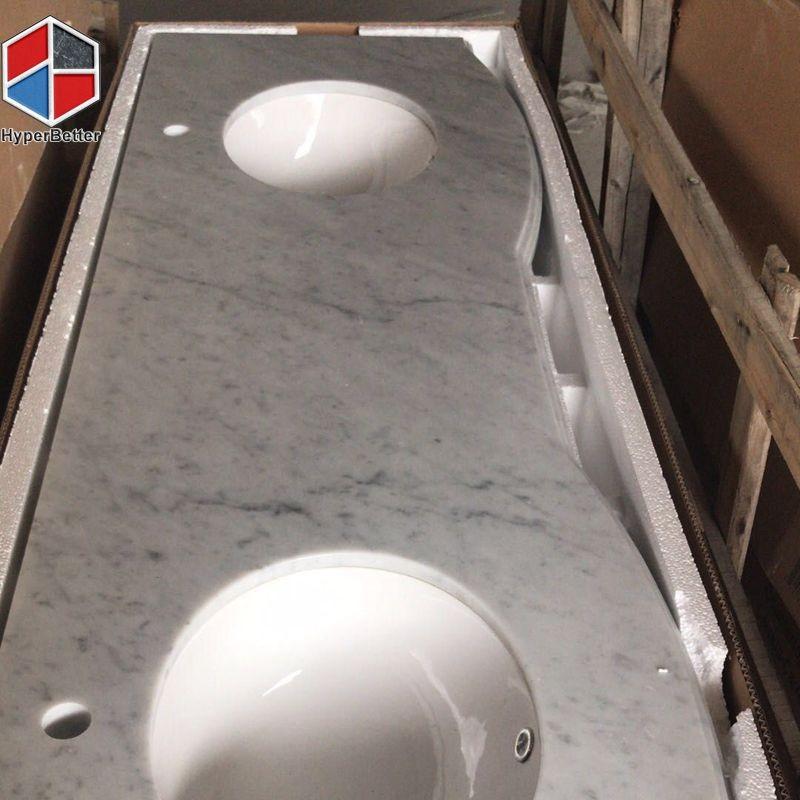 Double sink carrara vanity top (1)