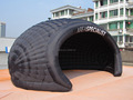 6x3.6x2.7m black inflatable air dome tent for sale