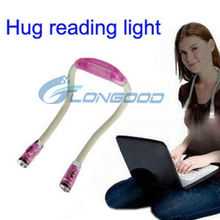 4 LED Hug Neck light Adjustable reading Book light Lamp