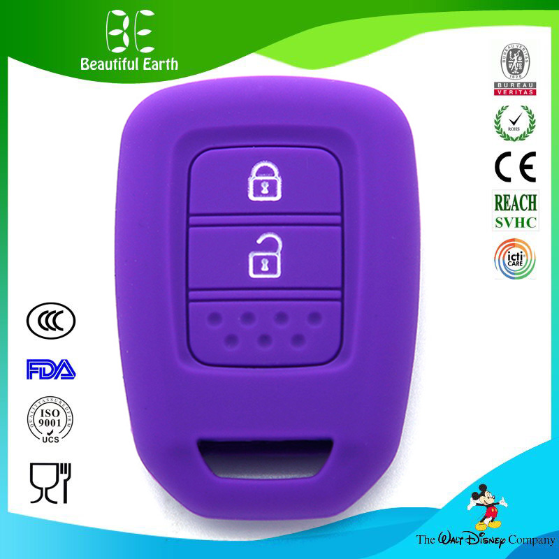Popular best promotion rubber silicone car key case for key programmer card honda key cover
