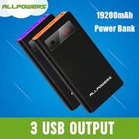 Mobile Phone High Capacity Power Bank 19200mAh 3-Port 4.5A Portable Charger External Battery for iPad, iPhone, ect