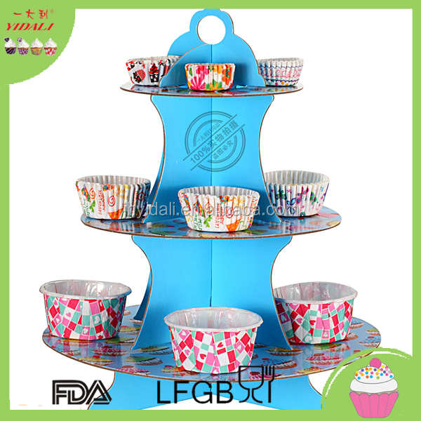 Wholesale Cheap Folding Wedding Paper 3 Tier Cake Stand