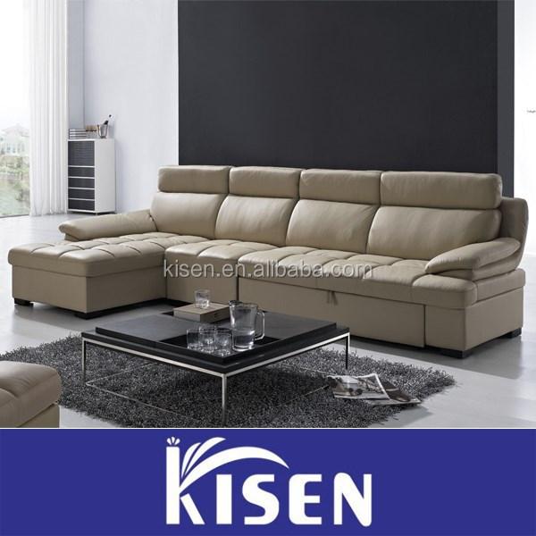 Esquina seccional sof cama living sala de sof de cuero - Sofa cama esquina ...