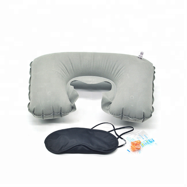 Comfortable Inflatable Portable Car Neck Pillow Airplane Rest Neck Support Pillow With Cheap Price