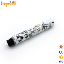 Cosmetic colorful offset printing acne skin cream collapsible aluminum tube