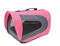 Pet Dog Soft Sided Travel Carrier Tote Bag - Pink