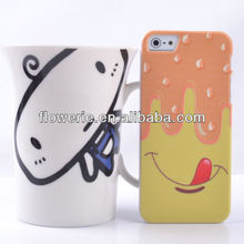 FL2677 Guangzhou hot selling melting chocolate designed gel case skin cover for iphone 5