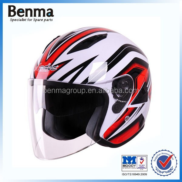 ABS materials red/black/white open face motorcycle motorbike helmets