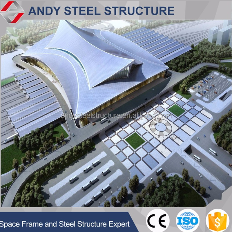 Steel Structure Aluminum Frameless Curtain Wall Covering for Railway/Airport Station