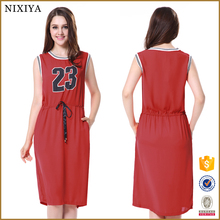 OEM women clothing factory custom designs wholesale jersey plus size dress