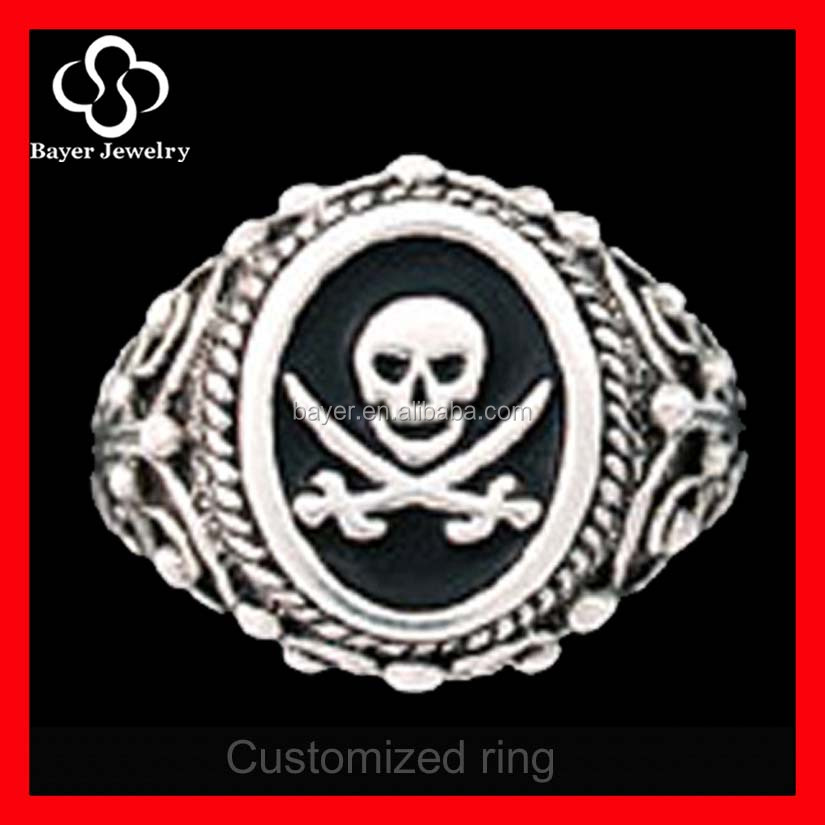 Scottish Rite Mens Masonic Ring Skull Freemason