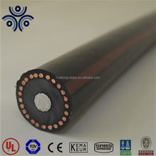 UL Certified 1/0 2/0 4/0 MV-90 URD single core xlpe insulated AL/CU conductor copper wire screened power cable made in China