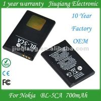 Factory outlet BL 5CA mobile phone battery bl-5CA for nokia 2700 2700C