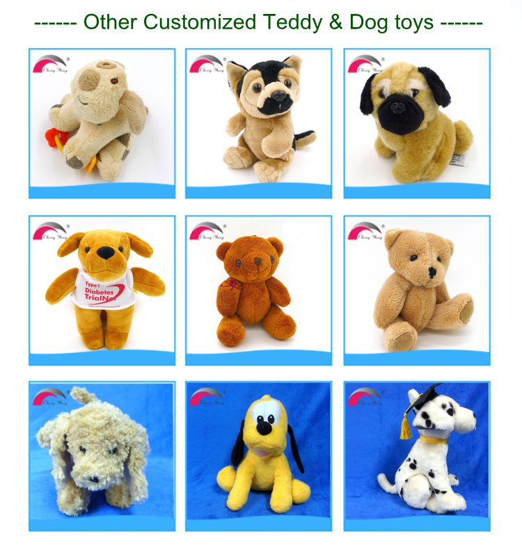 2017 Lovable Realistic Stuffed Custom Soft Plush Animal Teddy Dog Toy