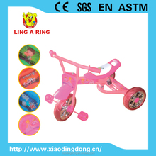 Small cheap Baby tricycle with suspension and silver wheels