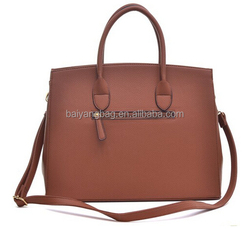 Fasion PU Leather Padlock Structured Briefcase Handbag, Tablet Bag