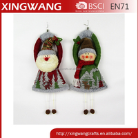 customize size fashion christmas indoor decor christmas hanging decoration santa snowman design