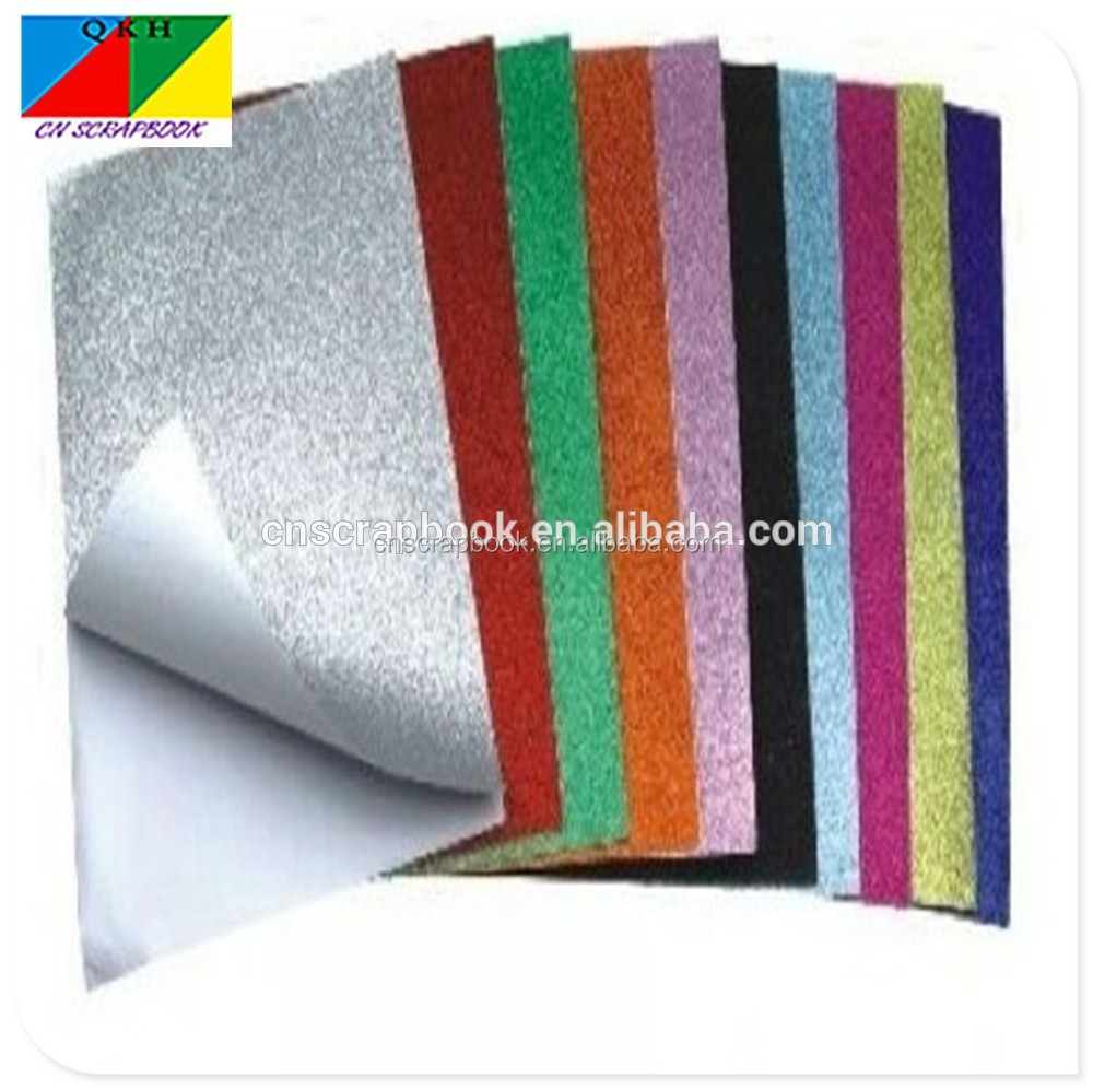 self adhesive glitter craft paper wrapping paper