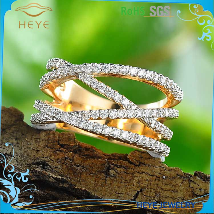 Hot sale super popular design 18kgp daily wear 750 gold rings jewelry