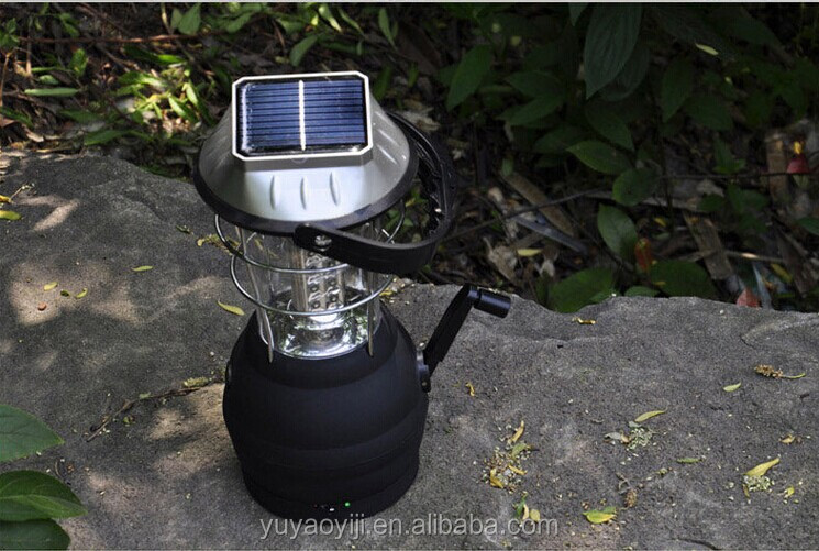 2014 New Design Outdoor Portable Solar Multifunction Charge camping lantern